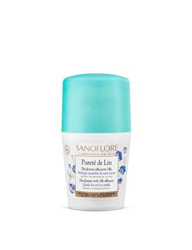 Sanoflore Pureté de lin Déodorant anti-traces efficacité 24h 50ml