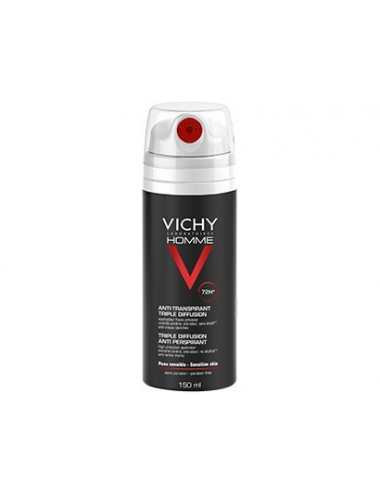 Vichy Deodorant Homme Triple Diffusion Anti-Perspirant 72H 150 ml