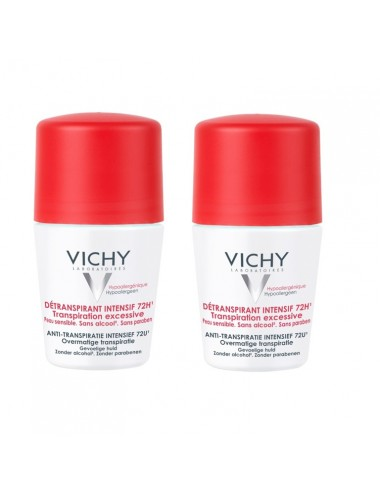 Vichy LOT*2 Détranspirant intensif 72h - Roll-on 50ml