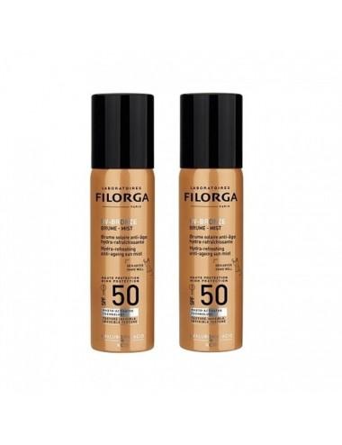 Filorga UV-Bronze Brume Solaire Anti-Âge Hydra-Rafraichissante SPF50 Lot de 2 x 60ml