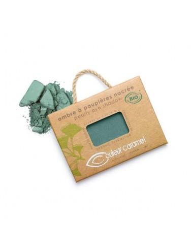 Couleur Caramel Ombre à Paupières Nacrée Bio N°50 Vert Bleuté 2,5g