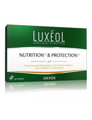 Luxéol Nutrition et Protection Cheveux 30 gélules