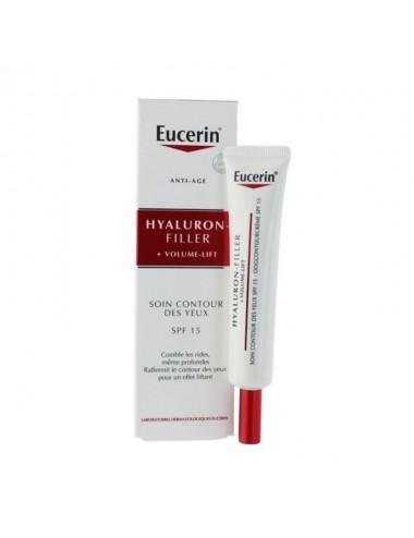 Eucerin Hyaluron-Filler + Volume-Lift Soin Contour des Yeux SPF15 15ml