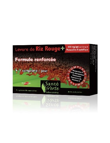 Santé Verte levure de riz rouge + 60 comprimés