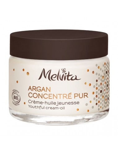 Melvita Argan Concentré Pur Bio Crème Huile Jeunesse 50 ml