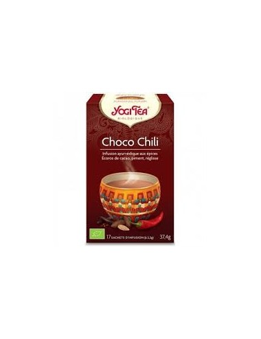 Yogi Tea Infusion Bio Choco Chili 17 Sachets