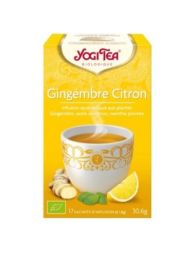 Yogi Tea Infusions Bio Gingembre Citron 17 Sachets