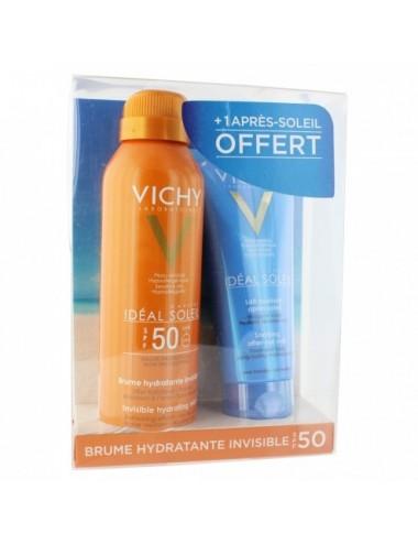 Vichy Idéal Soleil brume SPF50 200ml + après-soleil 100ml offert