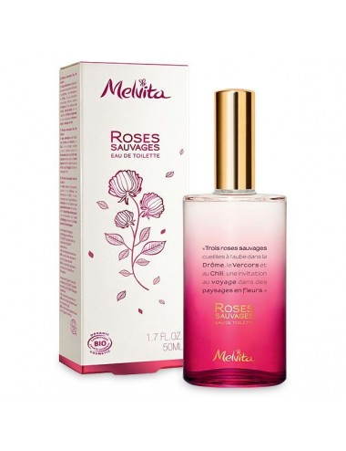 Melvita nectar de roses eau de toilette rose sauvage 50ml