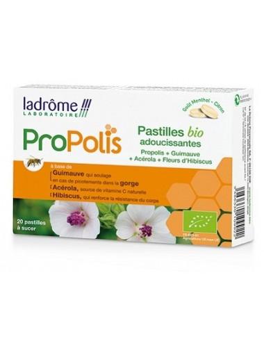 Ladrôme Propolis 20 Pastilles Bio Adoucissantes