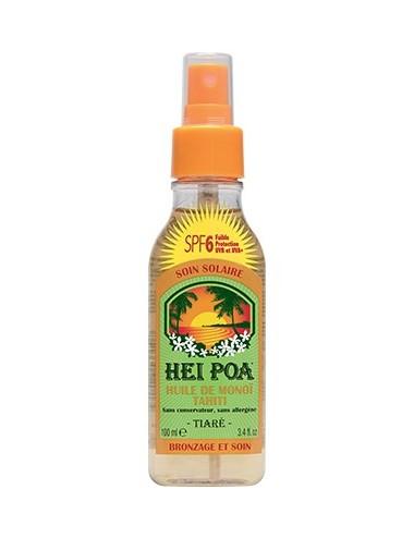 Hei Poa Huile de Monoï Tahiti Parfum Tiaré SPF 6 100 ml