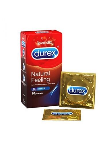 Durex Natural Sensation Lubrifié Sans Latex Boîte de 10 préservatifs