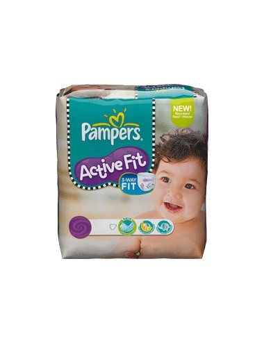 Pampers couches active fit 3 : 4 à 9 kg