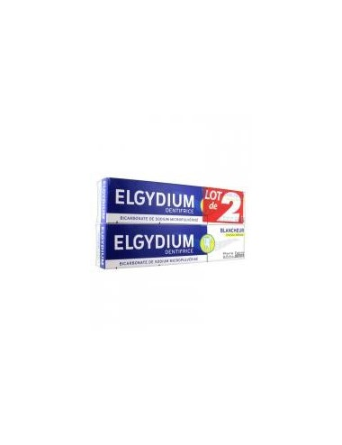 Elgydium Dentifrice Blancheur Citron Lot de 2x75ml
