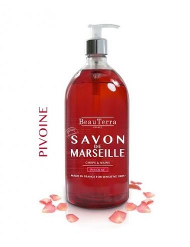 Beau Terra Savon de Marseille à la Pivoine 300 ml