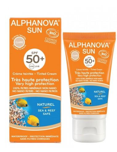 Alphanova Sun Crème Solaire Teintée Claire SPF 50+ Tube 50g