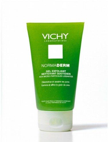 Vichy normaderm gel exfoliant nettoyant quotidien