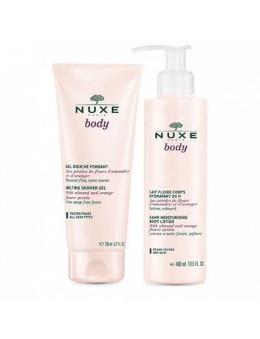 Nuxe Body Lait hydratant 400ml + Gel Douche 200ml