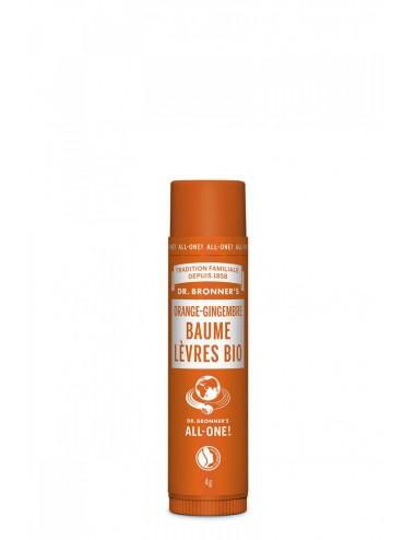 Dr Bronner's Baume à lèvres Orange-Gingembre 4g