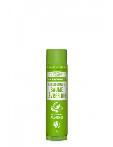 Dr Bronner's Baume à lèvres Citron-Limette 4g