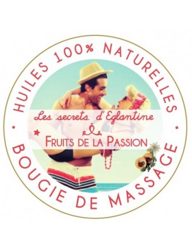 Les secrets d'Eglantine bougie de massage fruits de la passion 160g