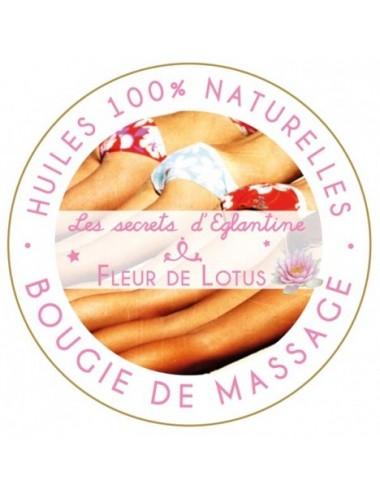 Les secrets d'Eglantine bougie de massage fleur de Lotus 160g