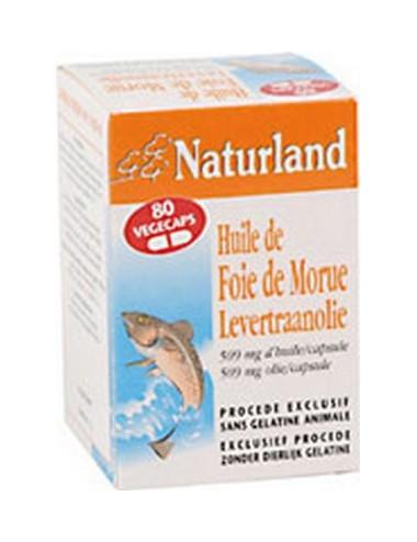 Naturland huile de foie de morue 80 végécaps