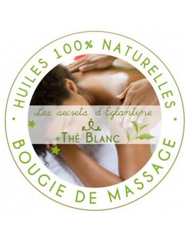 Les secrets d'Eglantine bougie de massage thé blanc 160g