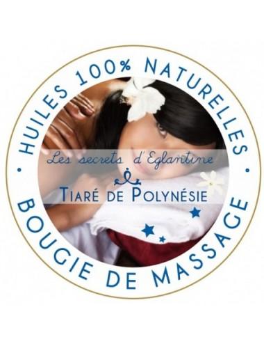 Les secrets d'Eglantine bougie de massage tiaré de Polynésie 160g