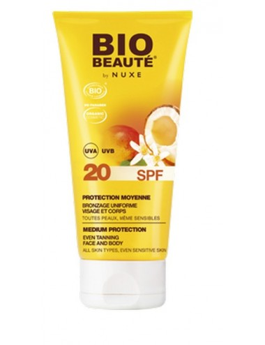 Nuxe bio solaire lait protection moyenne SPF 20
