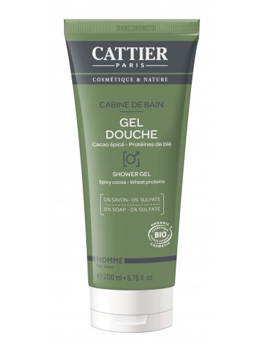 Cattier Homme Gel Douche Cabine de Bain 200ml