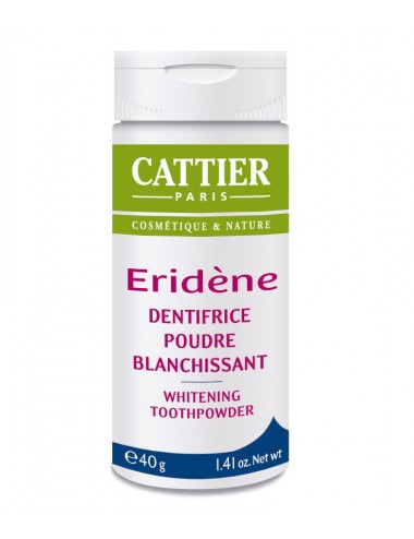 Cattier Eridène Dentifrice Poudre Blanchissant 40g