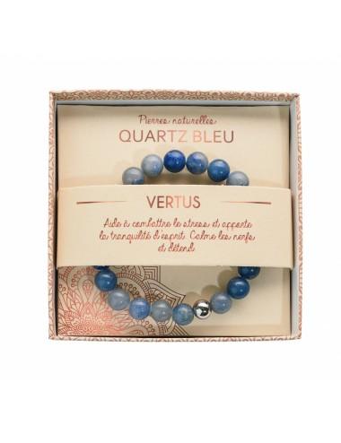 Bracelet coffret Quartz Bleu 8mm