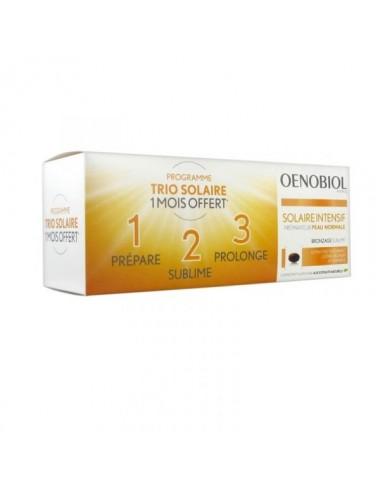 Oenobiol Solaire Intensif TRIO Peau Normale Lot de 3 boîtes