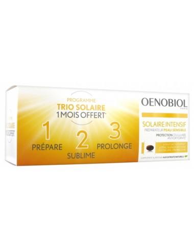 Oenobiol Solaire Intensif Préparateur Peau Sensible Lot de 3 boîtes