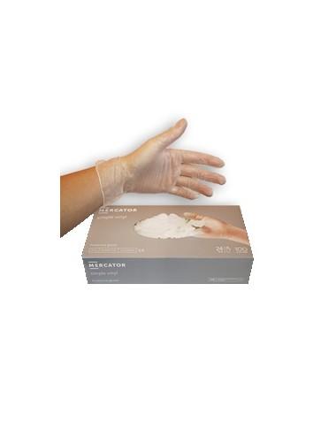 Mercator Gants Vinyle non poudrés taille M (7/8)- Boite de 100