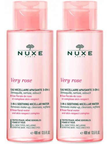 Nuxe Very rose Eau Micellaire Apaisante 3en1 2x400ml