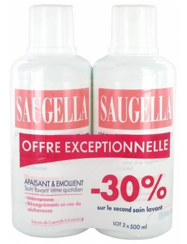 Saugella Poligyn Apaisant et Emollient Soin Lavant Intime Lot de 2 x 500 ml