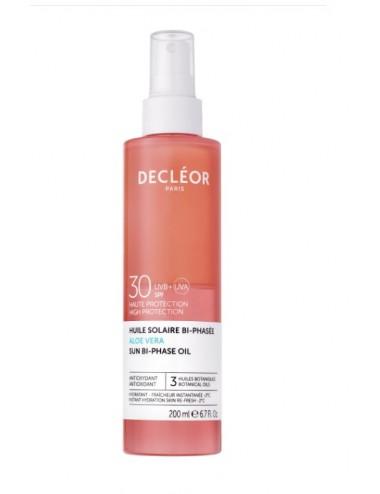 Decléor Huile Solaire Bi-phasée SPF 30 Aloe Vera 200ml