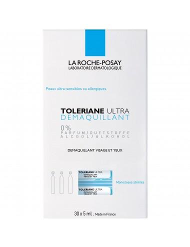 La Roche Posay Toleriane Ultra Démaquillant visage et yeux peaux ultra-sensibles à allergiques Monodoses stériles 30 x 5ml