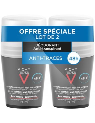 Vichy LOT*2 Homme Déodorant bille 48H anti-irritation