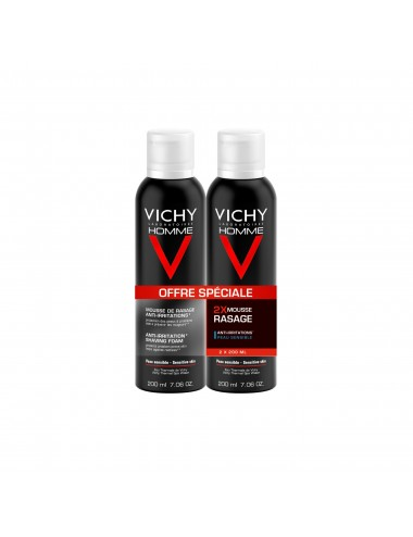 Vichy LOT*2 Homme Mousse à raser Anti-irritations
