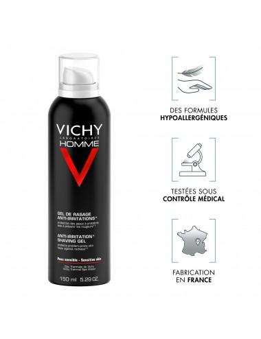 Vichy LOT*2 Homme Gel de rasage peaux sensibles