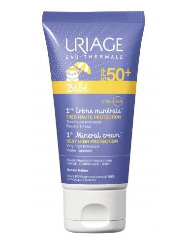 Uriage Bébé - 1ère Crème Minérale SPF50+ - Tube 50ml