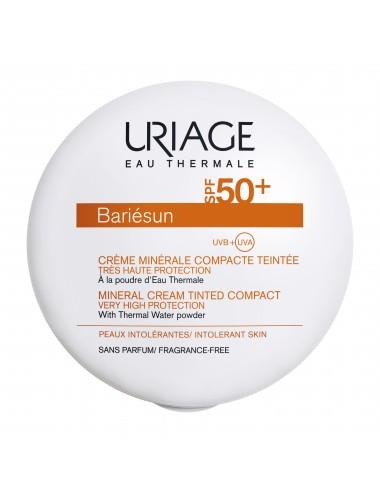 Uriage Bariésun - Crème Minérale Compacte Teintée Claire SPF50+ - Boîtier 10g