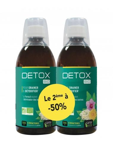 Santé Verte Detox Bio 500ml  Lot de 2