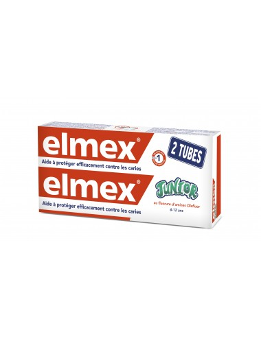 Elmex Lot Dentifrice Anti-Caries junior 6-12ans - 2x75ml