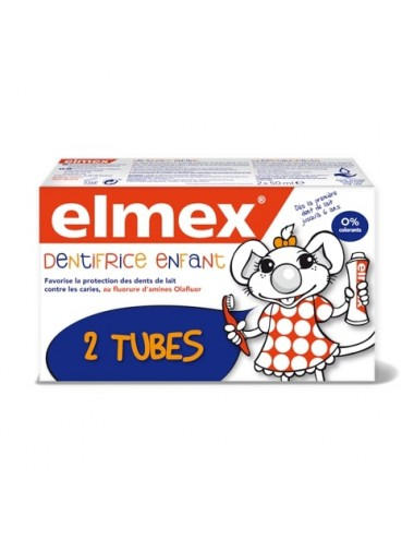 Elmex Lot Dentifrice Anti-Caries enfant - 2x50ml