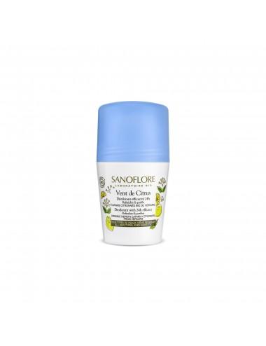 Sanoflore Déodorant vent de citrus Déodorant purifiant efficacité 24h 50ml