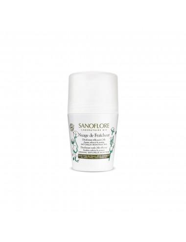 Sanoflore Nuage de fraîcheur Déodorant sans alcool efficacité 24h 50ml